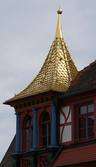 Schwabach - The gold roof of the Schwabach town hall