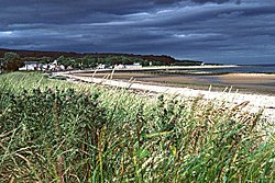 Looking over the beaches to Golspie