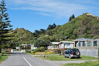 Gore Bay, New Zealand - Houses in Gore Bay