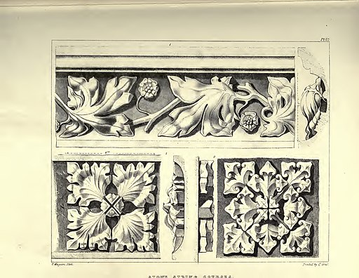 Gothic Ornaments, selected fom various ancient buildings, both in England and Franc, during the years 1828, 1829, and 1839 - Agustus Pugin 52