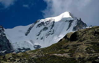 Gran Paradiso mountain in the Graian Alps located between the Aosta Valley and Piedmont regions of north-west Italy