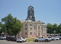 The Hood County Courthouse in Granbury