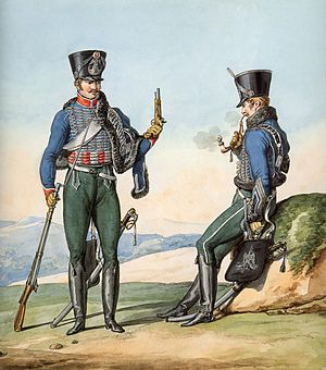 Sabretache - Image: Grande Armée 1st Regiment of Hussars
