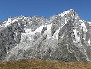 Planpincieux Glacier Glacier on the southern slopes of the Grandes Jorasses