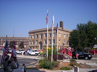 Southern Illinois - Granite City downtown and city hall, population:29,849.
