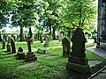 Graveyard, Holy Trinity Church, Bickerstaffe - geograph.org.uk - 537907.jpg