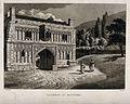 Great Malvern, Worcestershire, England; Gateway. Aquatint by Wellcome V0013898.jpg