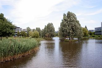 Green Park Business Park - The central lake makes a virtue of the necessity of flood alleviation measures