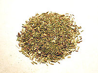 Organic green rooibos tea leaves. Photo taken ...