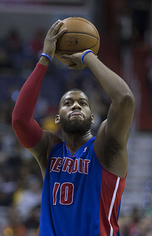 Greg Monroe - Monroe with the Pistons in January 2014