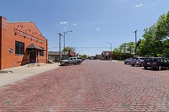 Gretna, Nebraska - Downtown looking south on Mc Kenna Ave
