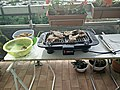 Grilling mutton with electric grill.jpg