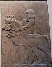 Ассирийский рельеф. .  Хорсабад, дворец Саргона II (Лувр) .