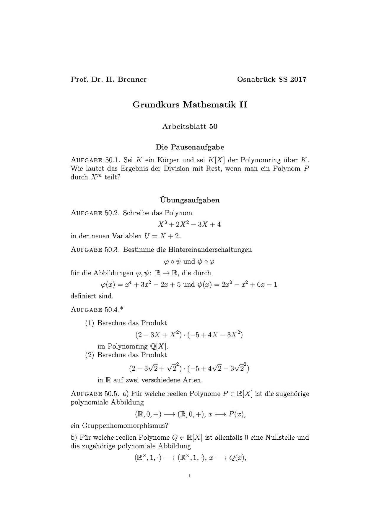 Atemberaubend Polynome Arbeitsblatt Pdf Galerie - Mathe Arbeitsblatt ...