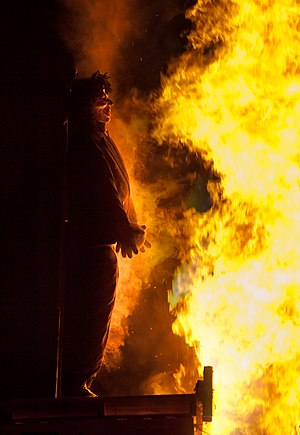 Bonfire - An effigy of Guy Fawkes, burnt on a Guy Fawkes Night bonfire