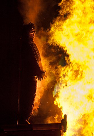 Guy Fawkes Night - An effigy of Fawkes, burnt on 5 November 2010 at Billericay