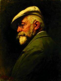 Benczúr Gyula: Önarckép (1917)