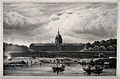 Hôtel des Invalides, Paris; as seen from the river. Lithogra Wellcome V0014315.jpg