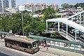 HK 元朗站 Yuen Long Station view Long Wo Road Yat Rd Kau Hui October 2017 IX1 footbridge.jpg