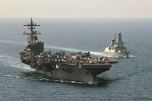HMS Defender Escorting USS George HW Bush MOD 45157996.jpg