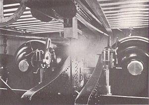 HMS Devastation (1871) - Image: HMS Devastation (1871) 12 inch gun turret interior