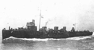 Tribal-class destroyer (1905) - Image: HMS Ghurka 1907