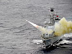 HMS Montrose Firing a Harpoon Missile MOD 45155410.jpg