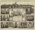 HUA-29028-Profiel van de stad Utrecht bovenaan een verzamelprent met zes afbeeldingen voorstellende vertrekken waar de vredesonderhandelingen zijn gevoerd een a.jpg