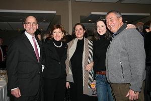 Tony Podesta - Senator Kay Hagan, Tony Podesta and Heather Podesta at a party hosted by the Podesta Group in Washington, D.C. to honor of the inauguration of Barack Obama, January 2009