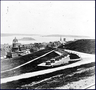 Citadel Hill (Fort George) -  Citadel Hill, circa 1870. Cannons facing the harbour.