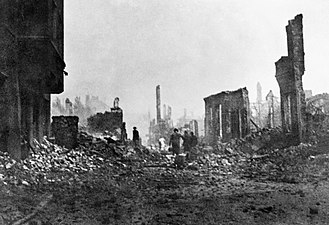 Royal Air Force Film Production Unit - Hamburg in ruins, eyewitness photograph by a Royal Air Force official photographer