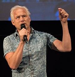 Hannes Holm under præsentationen af filmen   En mand som hedder Ove i Filmhuset 2015.