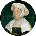 Hans Holbein d.J. - Die Frau eines Hofbediensteten König Heinrichs VIII.jpg