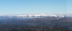 Hardangerjøkulen - Hardangerjøkulen seen from Hårteigen (southwest)