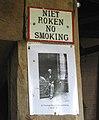 Hardley Mill - old 'No Smoking' sign - geograph.org.uk - 1419492.jpg