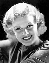 Black-and-white image of Jean Harlow