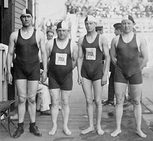 Henry Taylor (swimmer) - British 4 × 200 m freestyle relay team at the 1920 Olympics: Harold Annison, Henry Taylor, Percy Peter and Leslie Savage.