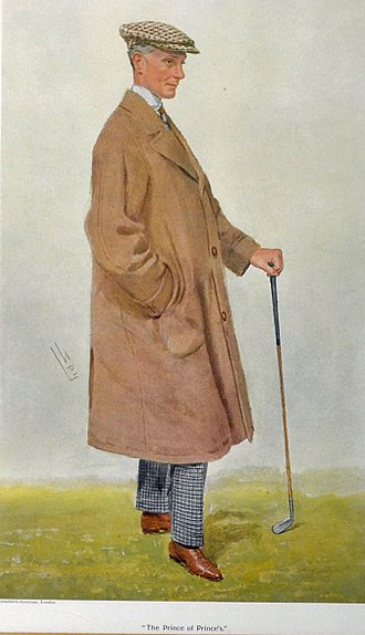 """Harry Mallaby-Deeley - """"The Prince of Prince's"""", caricature by Spy in Vanity Fair, 1909."""