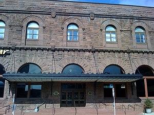 Hartford Union Station - The station entrance