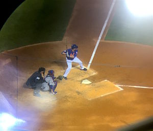 2015 National League Championship Series - Harvey at-bat, before bunting into a fielder's choice.