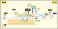 Hatta station map Nagoya subway's Higashiyama line 2014.png