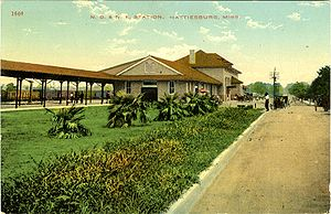 Hattiesburg, Mississippi - Union Station, c. 1910