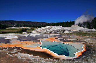 Lion Geyser - Image: Heart Spring and Lion Geyser in Yellowstone NP