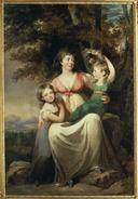 Hedvig Wegelin (1766-1842), gift Tersmeden med döttrar (Carl Fredrik von Breda) - Nationalmuseum - 39788.tif
