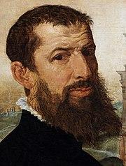 Marten Heemskerk self-portrait (detail)