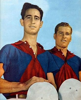 Campeonato Argentino Abierto de Polo - Horacio Heguy and Juan Carlos Harriott, winners with Coronel Suárez in 1958.