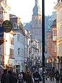 Heidelberg Hauptstraße kurz vor dem Universitätsplatz, rechter Hand.JPG