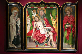 Triptych with the Holy Trinity