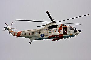 MV Fedra - Image: Helicoptero de Salvamento Maritimo (Spain)
