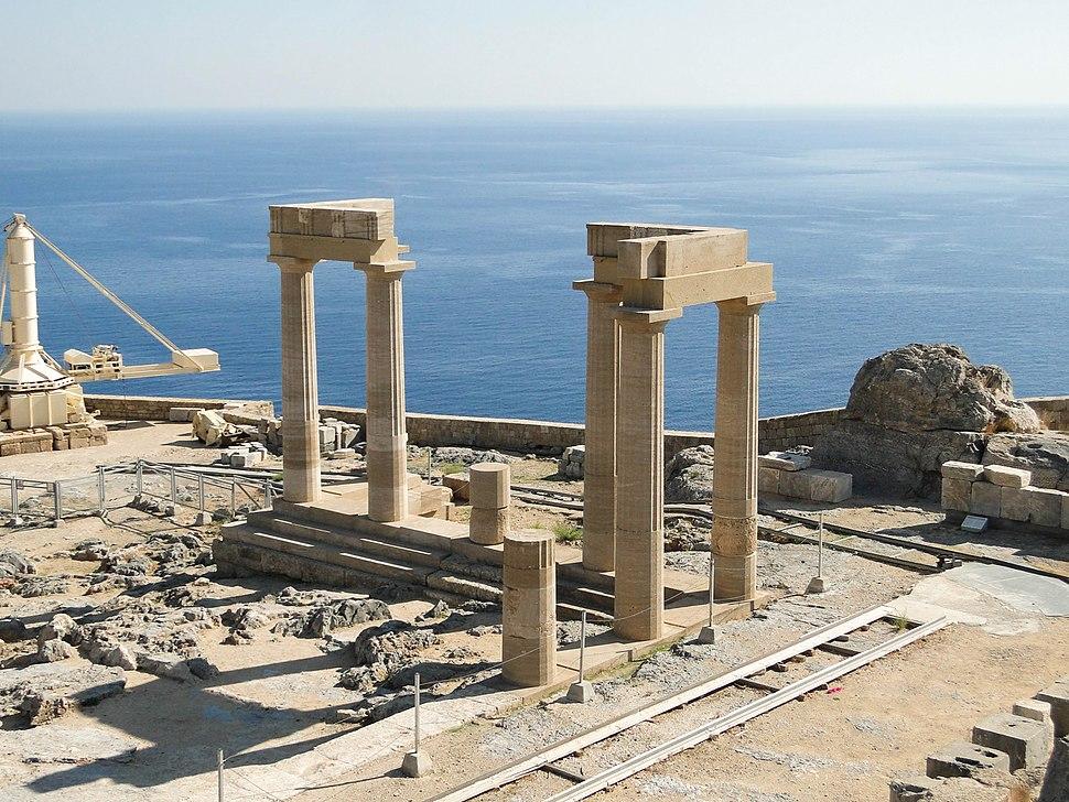 Hellenistic stoa (Lindos) 01